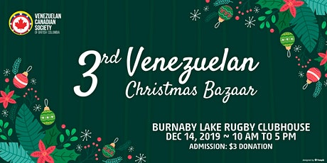 2019 Bazar Navideño Venezolano - Vendor Tables tickets