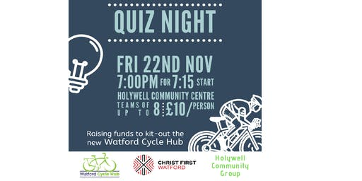 Watford Cycle Hub Fundraising Quiz