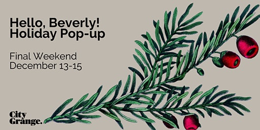 Beverly Holiday Pop-Up: Final Weekend
