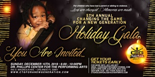 Changing The Game For A New Generation  5th Annual Holiday Fundraiser Gala