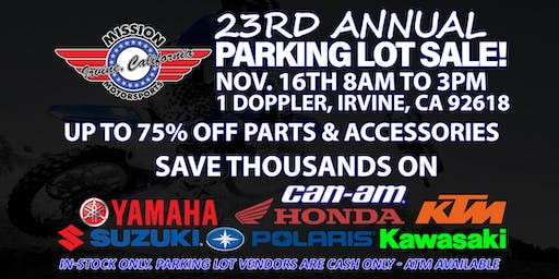 Mission Motorsports 23rd Annual Parking Lot Sale
