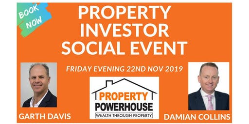Property Investor Social Event - Friday evening 22nd November