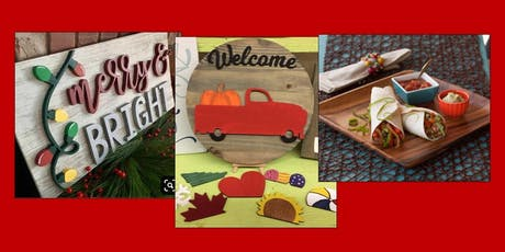 Cooking class and create a 3D sign tickets