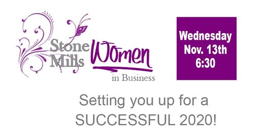 Stone Mills Women in Business - Setting you up for a successful 2020
