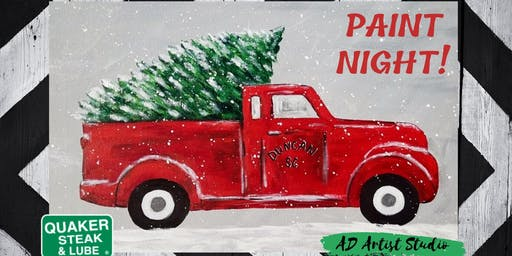 Truck & Tree Paint Night at Quaker Steak & Lube
