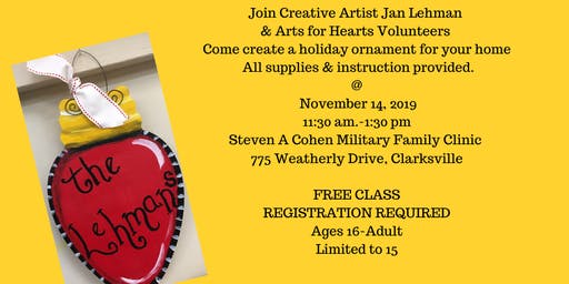 Getting into the Holiday Spirit: Ornament Class with Creative Artist Jan Lehman