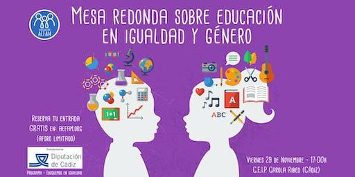 Mesa redonda sobre educación en igualdad y en género