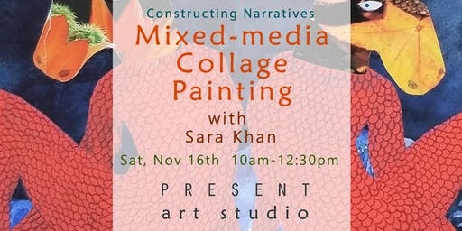 Mixed Media Collage Painting Workshop