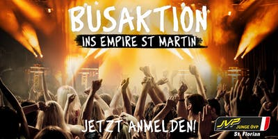 Busaktion ins Empire St. Martin