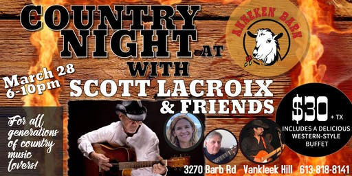 COUNTRY NIGHT with Scott Lacroix & Friends
