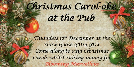 Christmas Carol-oke in the Pub