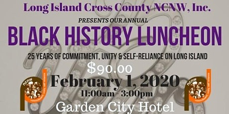 NCNW, Inc. ~ Long Island Cross County Section 2020 Black History Luncheon tickets