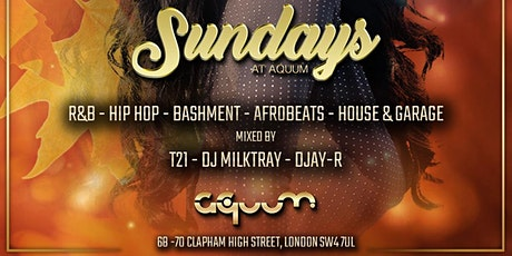SUNDAYS AT AQUUM FREE TICKETS tickets