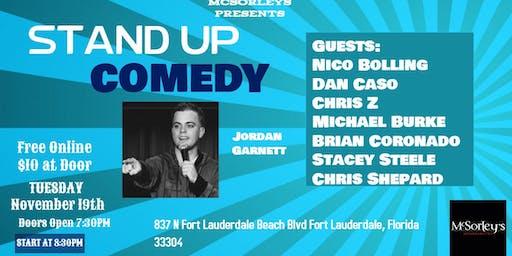 Stand Up Comedy Night with Jordan Garnett at McSorleys