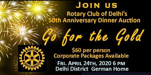 Go for the Gold! 50th Anniversary Dinner Fundraiser and Auction