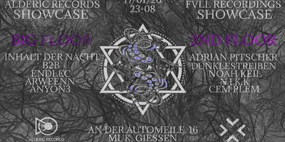 Alderic Records & Fvll Recordings Showcase w/ Inhalt der Nacht