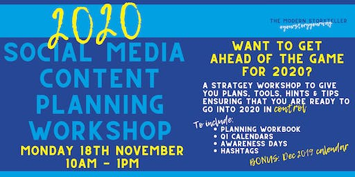 2020 Social Media Content Planning Workshop