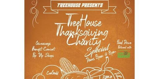 Treehouse Studios Thanksgiving Special:  Benefit Concert & Food Drive