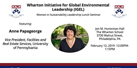 Women in Sustainability Leadership Seminar Series Featuring Anne Papageore tickets