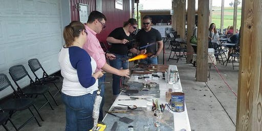 Glass Blowing Ornament Class