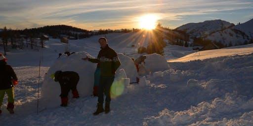 Iglubau mit Schneeschuhwanderung, Grazerhütte, Tauplitz (Stmk.) 2020