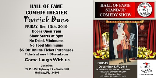 Stand Up Comedy - Headliner Pa Duax - Hall of Fame Comedy Theater
