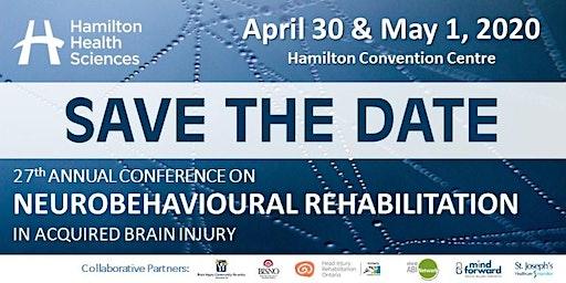 27th Annual Conference on Neurobehavioural Rehabilitation in ABI