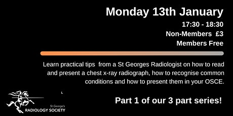 RadSoc Revision Series: How to read a Chest X-ray tickets