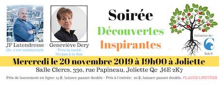 """Conférence """"Soirée Découvertes Inspirantes"""" billets"""