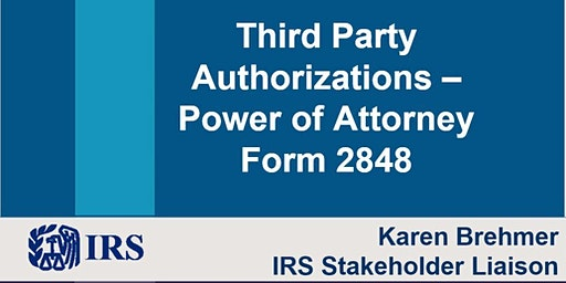 CPE by IRS: Third Party Authorizations & CAF