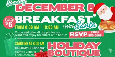 Breakfast With SANTA & Holiday BOUTIQUE!