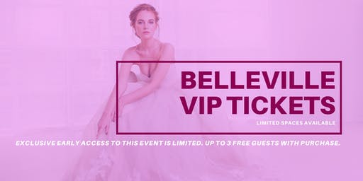 Opportunity Bridal VIP Early Access Belleville Pop Up Wedding Dress Sale