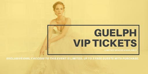 Opportunity Bridal VIP Early Access Guelph Pop Up Wedding Dress Sale