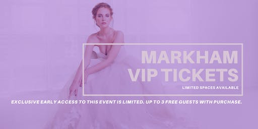 Opportunity Bridal VIP Early Access Markham Pop Up Wedding Dress Sale