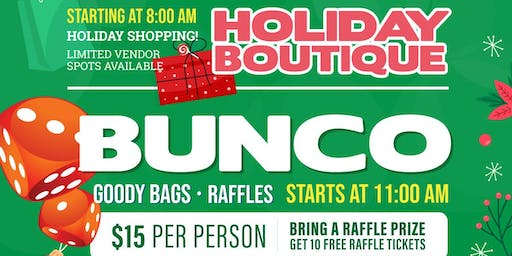 BUNCO Game & Holiday Boutique - Vendor Ticket