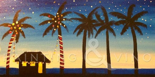 Cali Christmas! Join us for a fun Holiday painting at Back Forty Texas BBQ