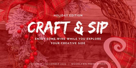 CRAFT & SIP - Holiday Edition tickets