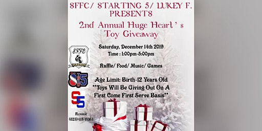 2nd Annual Huge Heart's Toy Giveaway
