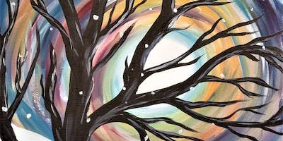 Come paint the Winter Solstice at Cool River Pizza in Roseville!