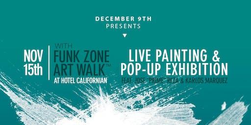 Live Graffiti & Pop-up at the Funk Zone Art Walk