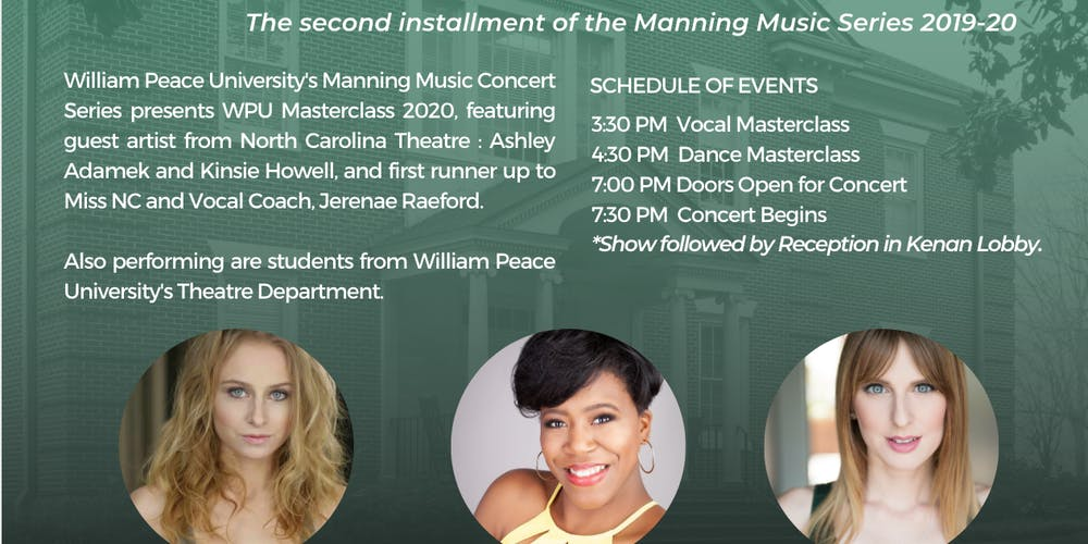 Today Show Concert Series 2020.Manning Music Series Presents Master Class With Peace 2020