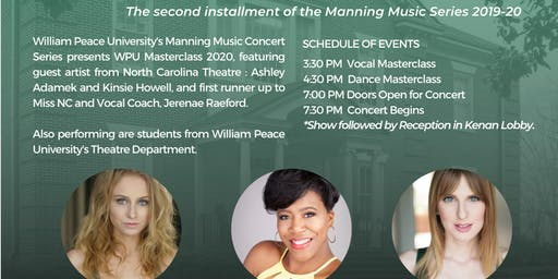 Manning Music Series Presents: Master Class with Peace 2020