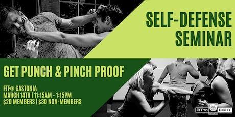 Self-Defense Seminar - Punch & Pinch Proof tickets