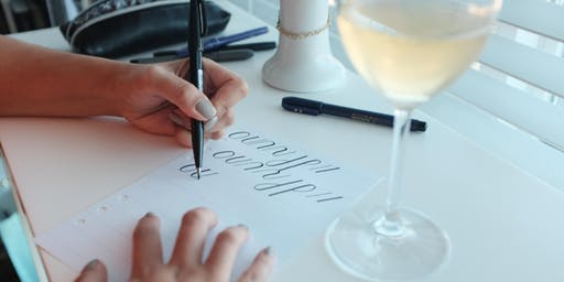 Intro to Wine and Brush Calligraphy Workshop