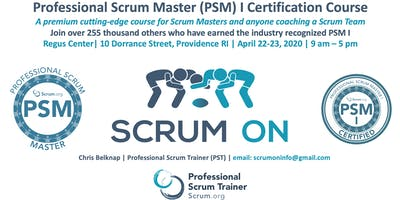 Scrum.org Professional Scrum Master PSM- Providence RI - April 22-23, 2020
