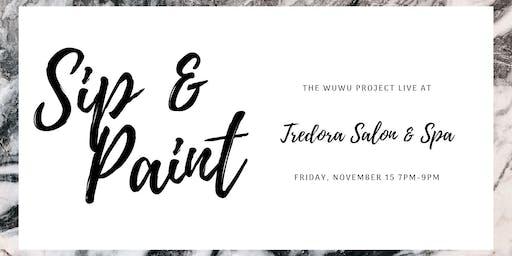 Sip & Paint at Tredora Salon & Spa