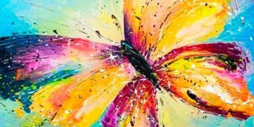 Union in Roseville Presents the Colorful Butterfly by Painting & Vino