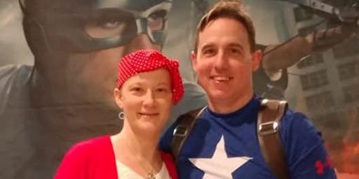 Super Hero benefit Bingo for Local Captain America Josh Flint and wife Abby