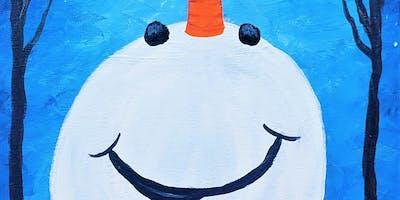 Happy Snowman with Painting & Vino Sacramento
