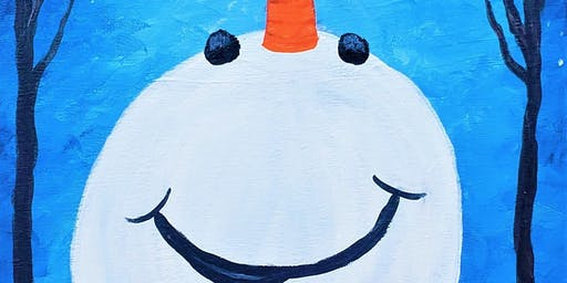 Happy Snowman with Painting & Vino Sacramento